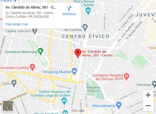 Mapa Aldeia Cândido página de contato